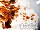 Рецепта Смокини с прецедено кисело мляко и извара